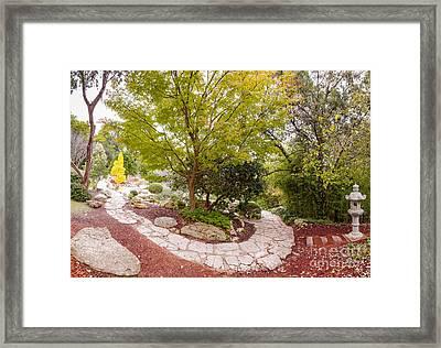 Japanese Garden Serenity At Zilker Botanical Gardens - Austin Texas Hill Country Framed Print by Silvio Ligutti