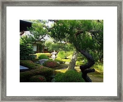 Japanese Garden V Framed Print by Wendy Uvino