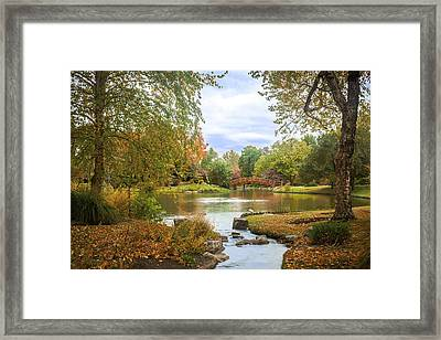 Framed Print featuring the photograph Japanese Garden View by David Coblitz