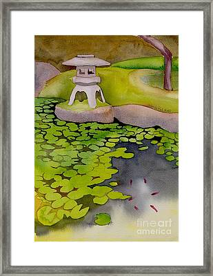 Framed Print featuring the painting Japanese Garden by Yolanda Koh
