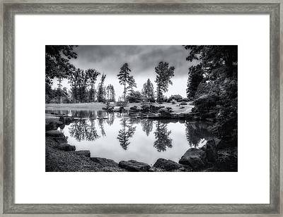 Japanese Gardens - Dawes Arboretum Framed Print by Tom Mc Nemar