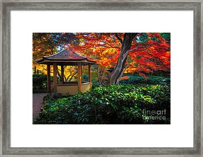 Japanese Gardens Framed Print by Inge Johnsson