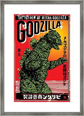 Japanese Godzilla  Framed Print