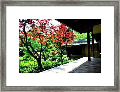 Japanese House Framed Print by Andrew Dinh