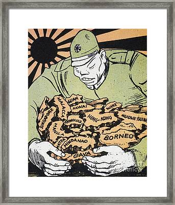 Framed Print featuring the photograph Japanese Imperialism by Granger