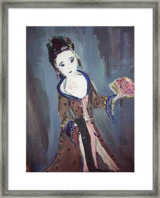 Framed Print featuring the painting Japanese Lady by Judith Desrosiers