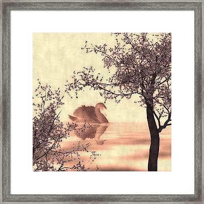 Japanese Lake Framed Print by Sharon Lisa Clarke