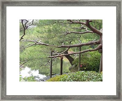 Japanese Landscape Viii Framed Print by Wendy Uvino