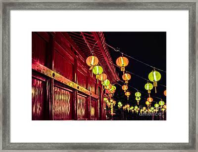 Japanese Lanterns 10 Framed Print
