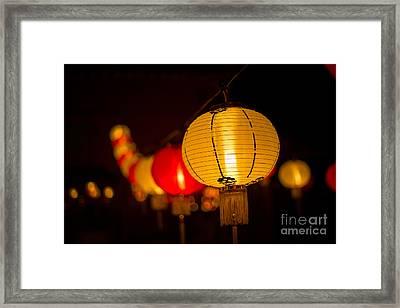 Japanese Lanterns 3 Framed Print