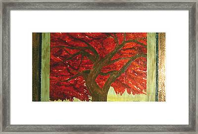 Japanese Maple Framed Print by Ellen Beauregard