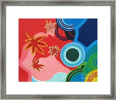 Japanese Maple On Water Framed Print by Takayuki  Shimada