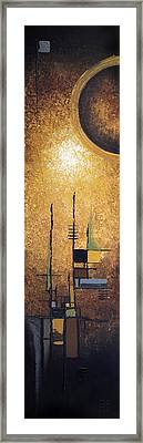 Japanese Moon Framed Print by Mike Irwin