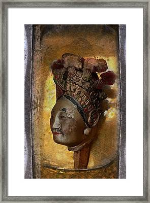 Japanese Puppet Head Single Framed Print by Jeff Burgess