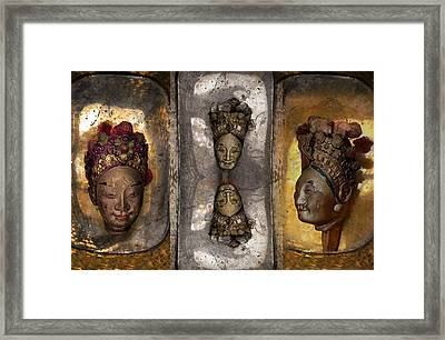 Japanese Puppets Framed Print by Jeff Burgess