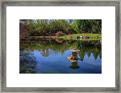 Japanese Reflections At Maymont Framed Print by Rick Berk