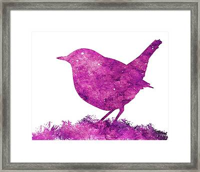 Japanese Robin Bird Framed Print