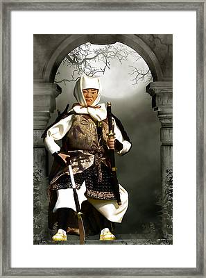 Japanese Samurai Doll Framed Print