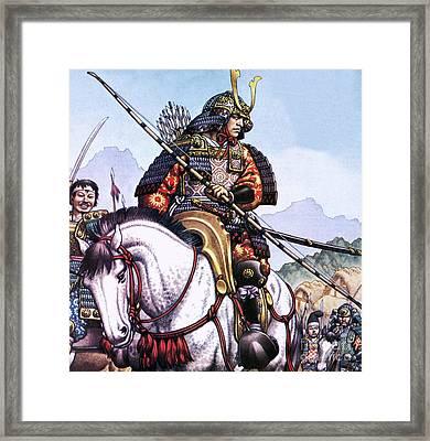 Japanese Samurai Framed Print by Pat Nicolle