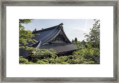 Japanese Shrine Rooftops Framed Print by Mason Born