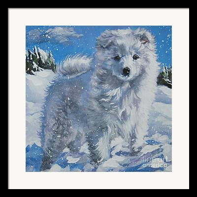 Japanese Spitz Framed Prints