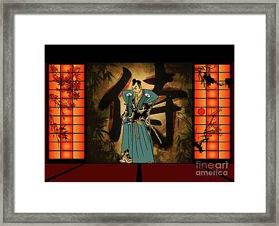 Framed Print featuring the drawing Japanese Style by Andrzej Szczerski