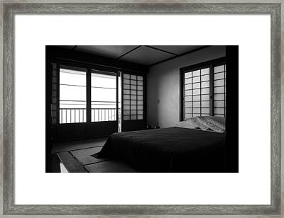 Japanese Style Room At Manago Hotel Framed Print