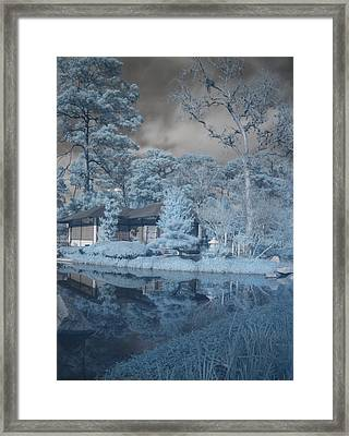 Japanese Tea Garden Infrared Right Framed Print