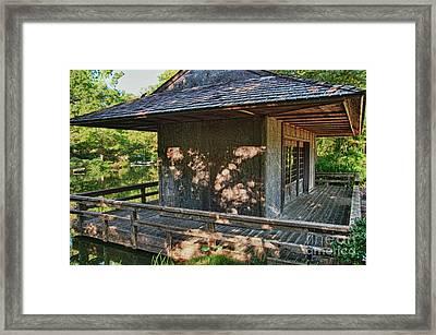 Japanese Teahouse Framed Print by Tamyra Ayles