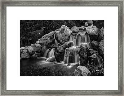 Japanese Waterfalls Framed Print