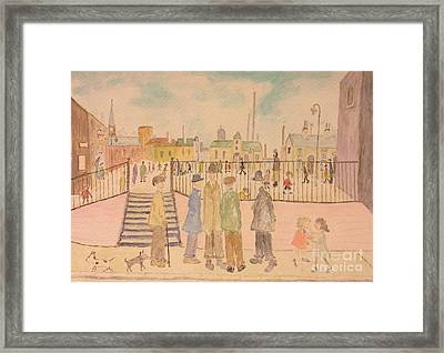 Japanese Whispers In Respect Of Lowry Framed Print by Sawako Utsumi