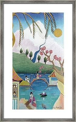 Japanese Willow Framed Print by Sally Appleby