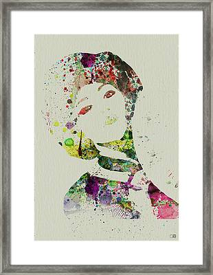 Japanese Woman Framed Print by Naxart Studio