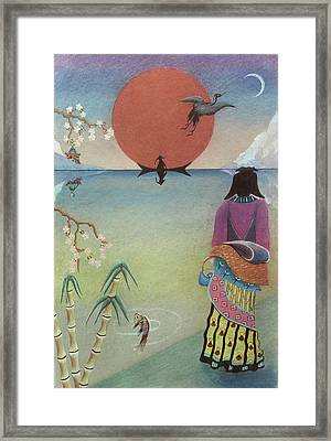 Japanese Woman Framed Print by Sally Appleby