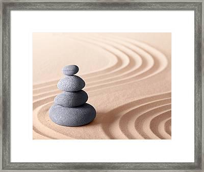Japanese Zen Meditation Garden Framed Print