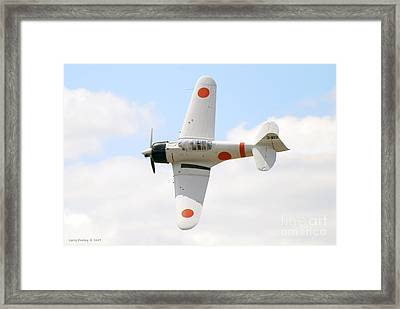 Framed Print featuring the photograph Japanese Zero by Larry Keahey