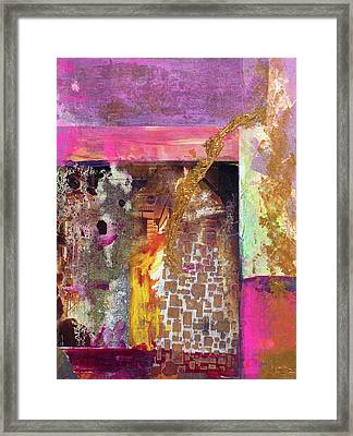 Jaquar Gold Framed Print by Pat Saunders-White