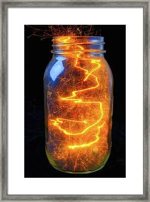 Jar Full Of Energy Framed Print
