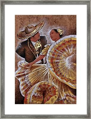 Jarabe Tapatio Dance Framed Print