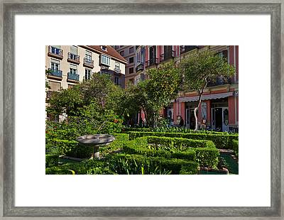 Jarden Cafetaria Bside The Garden Framed Print by Panoramic Images