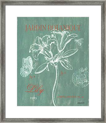 Jardin Botanique Aqua Framed Print by Debbie DeWitt