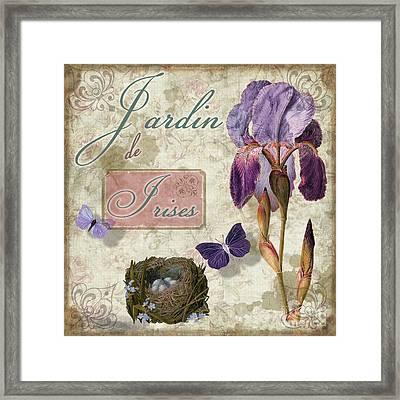 Jardin De Irises Framed Print by Mindy Sommers