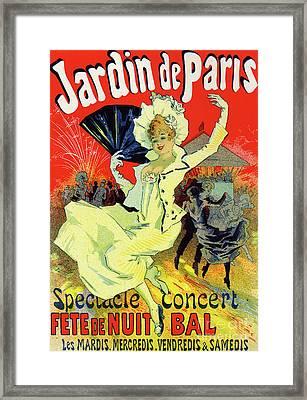 Jardin De Paris, Bal At The Champs Elysees Framed Print