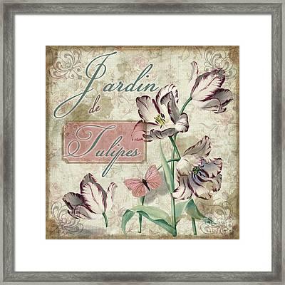 Jardin De Tulipes Framed Print by Mindy Sommers