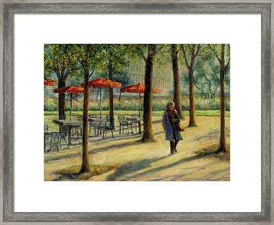 Jardin Des Tuileries In October Framed Print