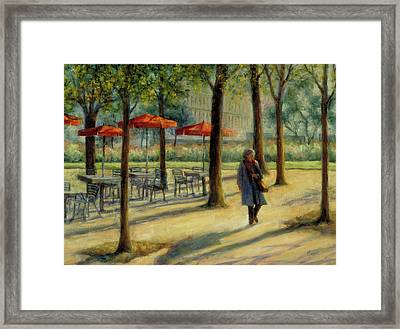 Jardin Des Tuileries In October Framed Print by Jill Musser