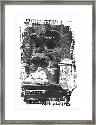 Jardin Du Luxembourg In Black And White Framed Print by Holly Wolfe