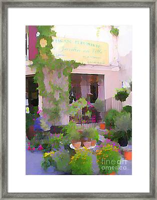 Jardin Et Ville Framed Print by Jennifer Smith