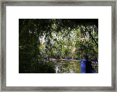 Framed Print featuring the photograph Jardin Majorelle 2 by Andrew Fare
