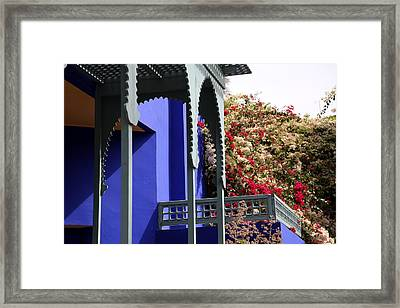 Framed Print featuring the photograph Jardin Majorelle 3 by Andrew Fare